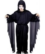 Déguisement de fantôme tueur pour enfant avec tunique à capuche et ceinture