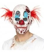 Masque de clown tueur pour adulte, masque avec cheveux en mousse latex