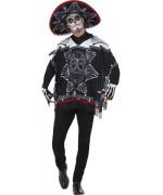 Déguisement mexicain halloween avec poncho, mitaines et sombrero