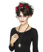 Bague et collier camée squelette, accessoirisez votre déguisement d'halloween