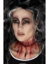 Maquillage gorge tranchée prothèse en latex