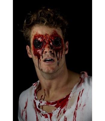 Prothèse latex yeux arrachés avec sang