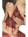 Tatouage transfert peau arrachée sanglante - maquillage halloween