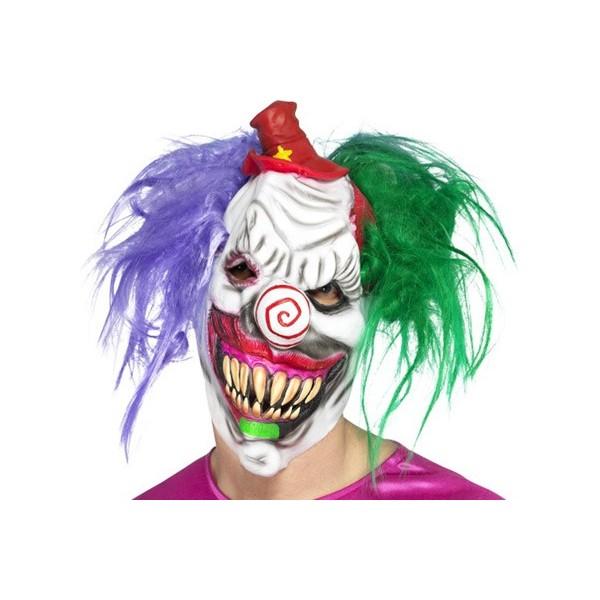 Masque clown tueur halloween avec cheveux la magie du - Masque qui fait peur a imprimer ...
