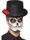 Chapeau mexicain haut de forme avec rose pour hommes et femmes