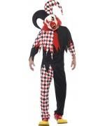 Déguisement de bouffon halloween pour adulte - costume halloween