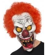 Masque de clown terrifiant halloween avec cheveux