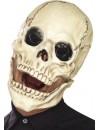 Masque squelette intégral avec mâchoire mobile, conçu en mousse de latex
