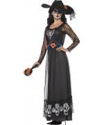 Déguisement Day of the dead halloween, incarnez la veuve noire