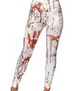 Leggings blanc avec taches de sang idéal pour accessoiriser votre déguisement pour halloween