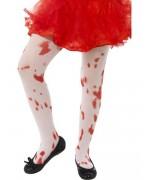 Collants tachés de sang pour fille de 6 à 12 ans - collants halloween