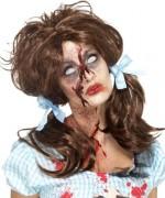 Perruque Dorothy zombie femme idéale pour incarner pleinement ce personnage inspiré du Magicien d'Oz