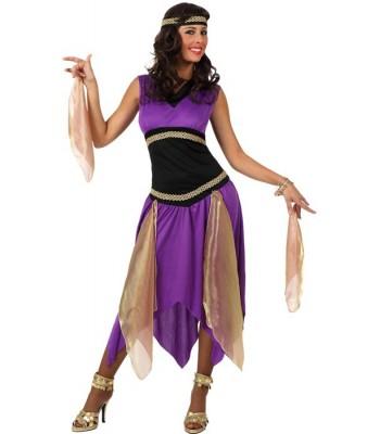 Deguisement danseuse orientale violette