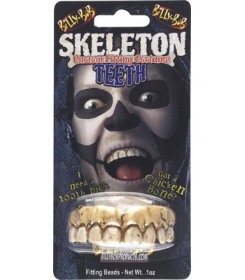 Fausses dents de squelette