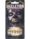 Fausses dents de squelette, idéale pour offrir davantage de réalisme à tous vos déguisements de squelette