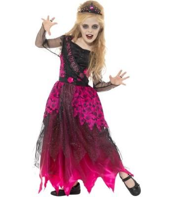 Déguisement de reine de promo zombie fille