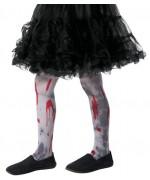 Collants de zombie pour fille, paire de collants tachés de sang idéal pour halloween