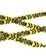 """Réalisez votre propre décor de scène de crime à l'aide de cette banderole jaune et noire """"attention danger"""""""