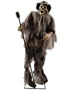 """Squelette chanteur d'environ 1,60 mètres, ce squelette s'anime et chante """"Stiuck on you"""" du célèbre Elvis Presley"""