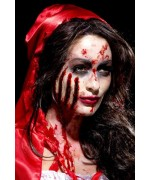 Réalisez facilement de profondes blessures à l'aide de ce maquillage entailles (prothèse en latex)