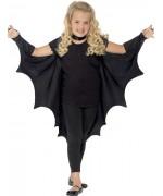 Cape noire ailes de chauve-souris pour filles idéale pour Halloween
