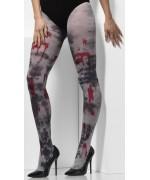 Paire de collants opaques zombie pour femme