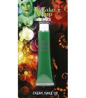 Tube de maquillage vert en crème