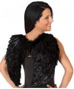 Ailes noires à plumes, accessoirisez votre déguisement pour halloween
