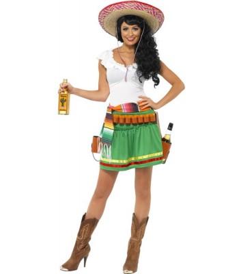 Déguisement de mexicaine tequila shooter