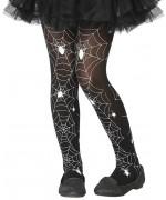 Paire de collants pour fille avec motif araignée idéale pour compléter un déguisement de sorcière pour Halloween