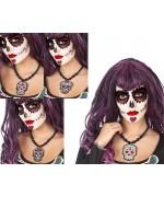 Collier mexicain jour des morts avec pendentif