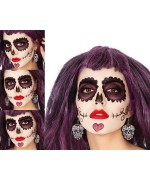Boucles d'oreilles mexicaines halloween Day of the dead