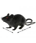 Rat noir d'nviron 22 x 9 cm, idéal pour réaliser votre décoration pour halloween