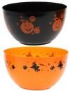 Saladier en plastique halloween, 22 cm de diamètre et 13 cm de haut - décoration de table Halloween