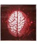 20 serviettes cerveau halloween, optez pour décoration gore et sanglante