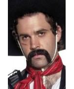Moustaches mexicain noires auto-adhesives