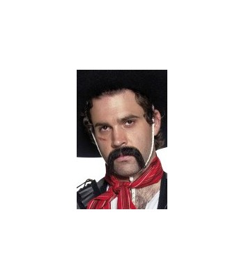 Moustache noire mexicain auto-adhesives