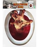 Décorez vos toilettes à l'occasion des fêtes d'halloween avec ce set de décoration zombie pour WC