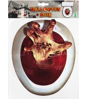 Décoration WC zombie halloween