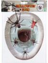 Décoration WC araignées halloween