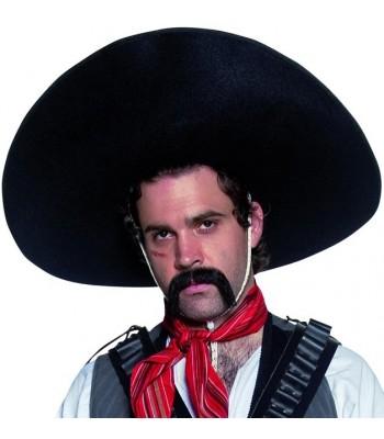 Sombrero noir mexicain