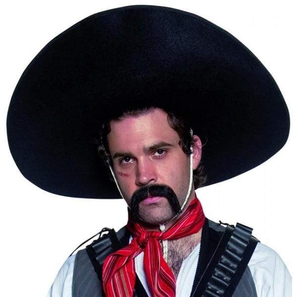 sombrero noir mexicain western la magie du d guisement. Black Bedroom Furniture Sets. Home Design Ideas