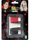 Kit de maquillage en crème 3 couleurs, blanc, noir et rouge