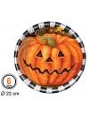 6 grandes assiettes citrouille en carton, une vaisselle jetable idéale pour halloween