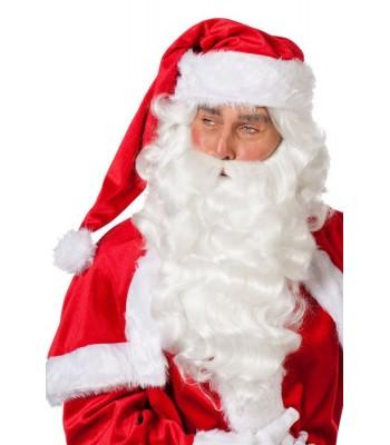 Père Noël barbe et perruque de luxe