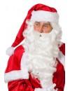 Père Noël barbe et perruque de luxe, réaliste et de très bonne qualité