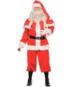 Costume de Père Noël velours avec cape, déguisement disponible en grandes tailles