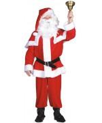 Costume de Père-Noël velours avec haut, pantalon, ceinture et bonnet de père noël
