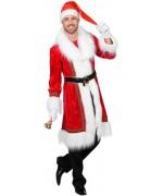 Le manteau du père noël, manteau de noel velours pour homme également disponible en grandes tailles