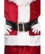 Ceinture de Père Noël 145 cm, ceinture noire avec boucle dorée